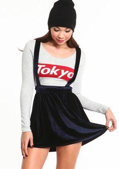 cb8979d6b6  3 Velvet Suspender Skirt  velvet  skirt  skaterskirt  holiday  loveculture