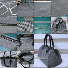 How to make Nice Fashionable designer Handbags step by step DIY tutorial instructions, How to, how to do, diy instructions, crafts, do it yourself, diy website, art project ideas
