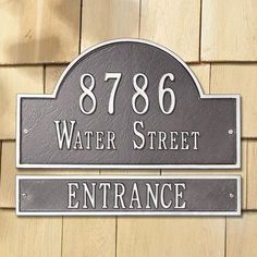 Whitehall Products Arch Extension Address Plaque Finish: Pewter and Silver