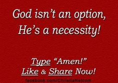 Did You Know? That God is not an Option or Optional!