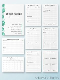 Finance Planner Printable, Budget Planner, Financial Planner, bill tracker - All About