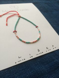 Morse Code Bracelet Libra by morsecords on Etsy