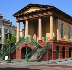 The Old City Market-Charleston. This building also houses the Confederate Museum.