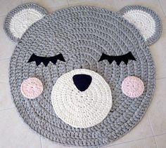 Bär häkeln Teppich Teppich tragen handgefertigtes von Ponponi