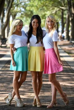 Dress to impress in our preppy pleated skirt, now in gorgeous solid colors! You can dress this little number up or down and no matter where you wear it you're sure to be the best dressed girl around!