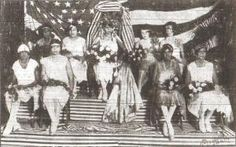 the 1927 debutantes presented by the Young Men's Illinois Club at their elaborate Mardi Gras Ball which was reigned over by Miss Mabel Saulsby, the lovely Queen. This photo appeared in the February 26, 1927 edition of The Louisiana Weekly.