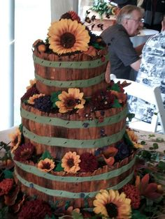 """For my nieces outdoor wedding.Won the """"Meet the Cake Boss"""" contest with this one!!  So excited!!"""