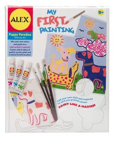 The kit comes with a real artist's canvas with pre-printed pattern of puppies, 6 tubes of quality acrylic paint, and 3 natural bristle brushes to give your child the real experience of painting. Alex Toys' My First Painting – Puppy Paradise lets your children choose their own patterns and designs and lets them mix their own colors as well. There is no better way for you to engage your child's creativity in a single kit.