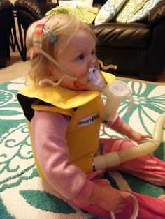 My daughter Sarah at 25 months old using the SmartVest for CF