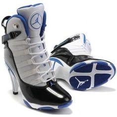 Air Jordan 6 Retro High Heels White Blue Black
