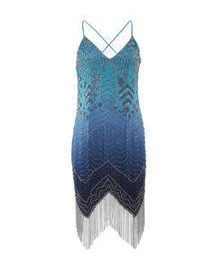 HAUTE HIPPIE Fringe Ombre Dress. #hautehippie #cloth #dress
