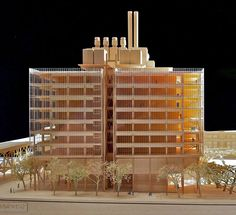Renzo Piano Building Workshop     Wood Model. North Facade of the Jerome L. Greene Science Center for Mind Brain Behavior