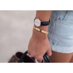 Daniel Wellington Watch + stacked with great bracelets