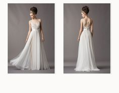 Nordstrom.com - Watters Collection Wedding Dress Lookbook This is a true WOW! Illusion neckline, satin detail waist, satin buttons down the back.