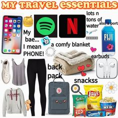 This is perfect for my trip this year ! - Aesthetic styles This is perfect for my trip this year ! - Aesthetic styles This is perfect for my trip this year ! - Aesthetic styles This is perfect for my trip this year ! Road Trip Checklist, Travel Packing Checklist, Road Trip Packing List, Travel Bag Essentials, Travel Necessities, Road Trip Essentials, Road Trip Hacks, Travelling Tips, Airplane Essentials
