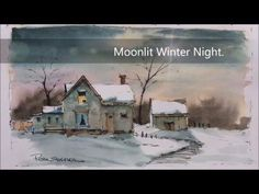 Pen and wash demonstration of a country farmhouse. Easy to follow and learn. With Peter Sheeler - YouTube