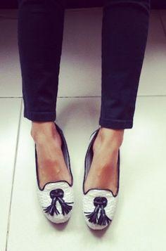 flat out fab #flats #tuxedo #shoe