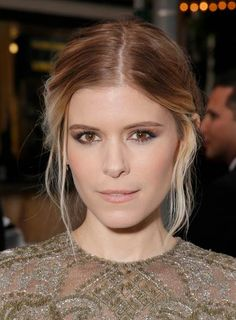 Kate Mara in bronze and nudes
