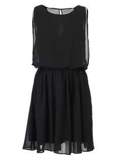 Vero Moda - Černé šaty  Opal Chain - 1