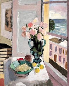 Henri Matisse Flowers in Front of a Window 1922 print for sale. Shop for Henri Matisse Flowers in Front of a Window 1922 painting and frame at discount price, ships in 24 hours. Cheap price prints end soon. Henri Matisse, Matisse Kunst, Matisse Art, Matisse Paintings, Picasso Paintings, Art Oil Paintings, Pablo Picasso, Art Inspo, Modern Art