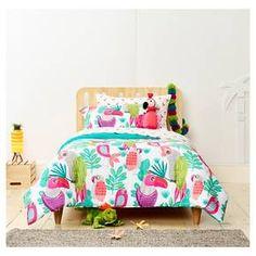 Parakeet Paradise Comforter Set Twin 2pc - Pillowfort™ : Target