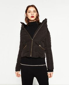 ZARA - WOMAN - SHORT ANORAK WITH HIDDEN HOOD