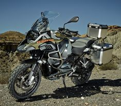 2014 BMW R 1200 GS Adventure with accessory hard cases. Click to read more in Rider magazine.