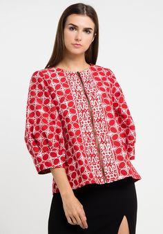 Astari Jacket_0 Batik Fashion, Ethnic Fashion, African Fashion, Batik Kebaya, Batik Dress, Blouse Batik Modern, Batik Blazer, Blouse Models, Model Outfits