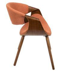Curvo Mid Century Modern Chair in Walnut Wood