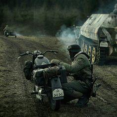 WWII SS Nazi Motorcyclist
