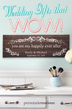 A Personal Creations Exclusive! Celebrate the love that completes your life with this romantic art canvas. Wedding Gifts For Bride And Groom, Wedding Gifts For Parents, Diy Wedding Gifts, Our Wedding, Dream Wedding, Wedding Stuff, Cute Gifts, Diy Gifts, Wedding Engagement