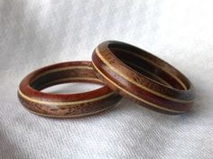 Non-traditional wedding rings...because you KNOW that's what i'd do!