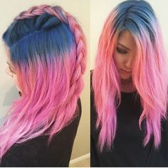 Wow 'o' Blue and Pink together <3