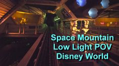 Space Mountain Ultra Low Light On Ride POV Left and Right Side Walt Disn...