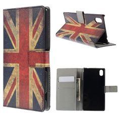 Mesh - Sony Xperia M4 Aqua Hoesje - Wallet Case Vintage Britse Vlag | Shop4Hoesjes