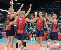 U.S. Olympic Men's Volleyball Team defeats Serbia
