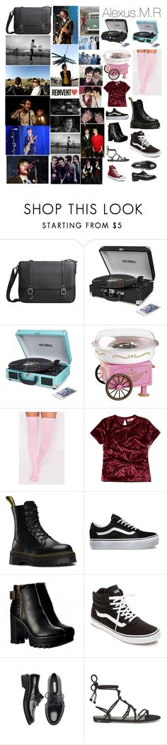 """""""Alexis.M.R"""" by llamapoop ❤ liked on Polyvore featuring MANGO, Innovative Technology, Nostalgia Electrics, Hollister Co., Dr. Martens, Vans, Temperley London, Converse and George"""