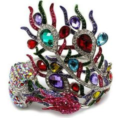 Marie's Fancy Multi Color Crystal Peacock Bracelet I HAVE THIS AND IT'S SOOOOO PWETTY!!!!!