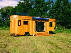 The Wohnwagon hails from Austria and is constructed from natural, recycled and a few new materials. The exterior is covered in naturally waterproof larch wood, which is known for its durability and attractiveness.