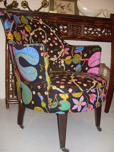 Armchair covered in Josef Frank fabric