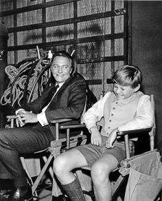 Christopher Plummer and Duane Chase on the set of <i>The Sound of Music.</i>