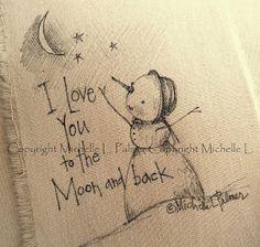 Michelle Palmer: Snowman Art~