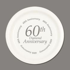 60TH ANNIVERSARY DESSERT PLATE (8/PKG) Anniversary Dessert, 60th Anniversary Gifts, Diamond Anniversary, Anniversary Ideas, Wedding Dj, Plates, Photo Booth, Party Ideas, Amazon