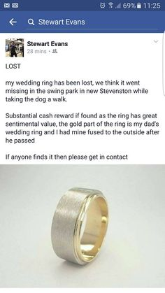 Hi there My 83 year Grandma has lost her wedding ring somewhere