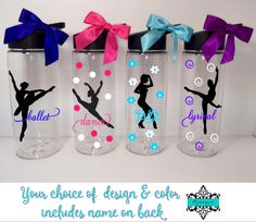 Personalized Dancer Water Bottle /Ballet/Lyrical/Jazz/Dancer Water Bottle with Name / Bulk Dance Team Gift/ Dance Coach Gift by PYdesigned on Etsy
