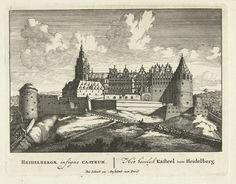 Heidelberg castle. Pieter Schenk.  1695-1705