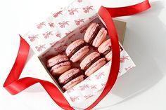 Pink Macarons with Bittersweet Chocolate Ganache