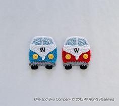 Ravelry: VW Camper Van Applique pattern by Carolina Guzman.