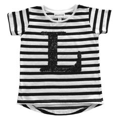 Initial T-Shirt - Black