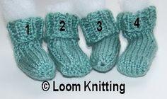 Loom Knitting: Teeny Tiny Socks